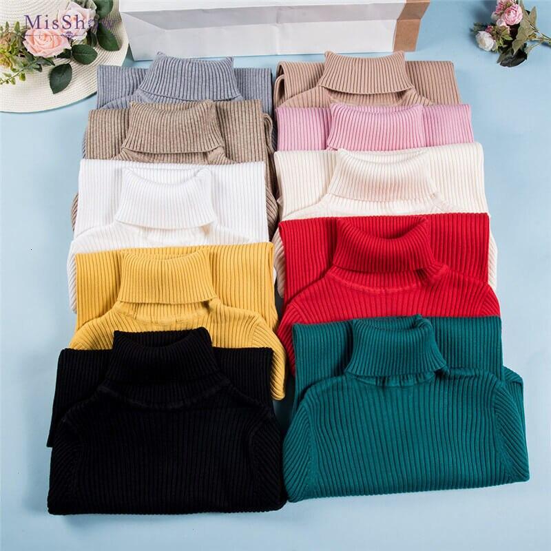Simple Fashion City Style Autumn Winter Women's Sweaters 2019 Modern Women's Tight Sweaters