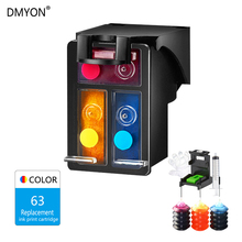 DMYON 63XL Tri-color Ink Cartridge Compatible for Hp 63 Officejet 3833 5255 5258 4520 4650 3830 3831 2130 1112 3632 Printer
