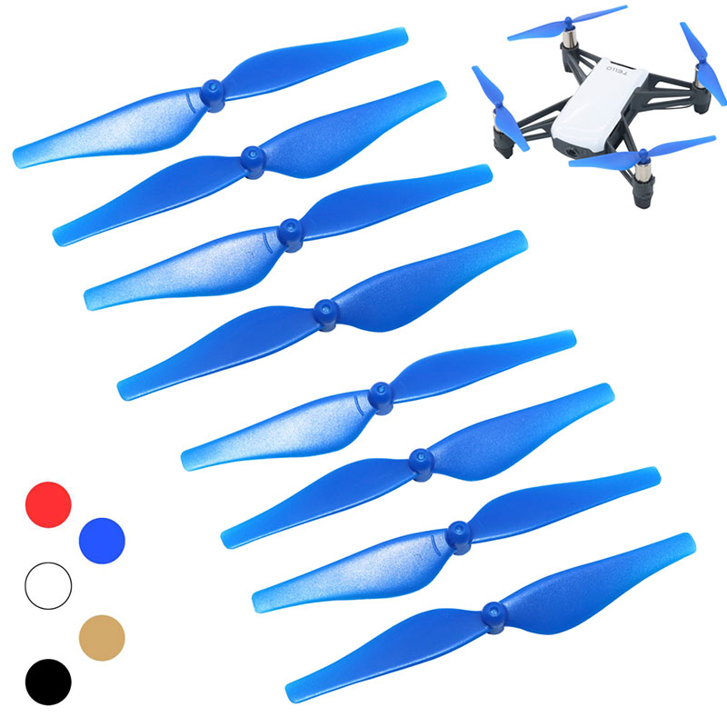 8pcs Colorful Propeller Quick Release Propeller For DJI TELLO Mini Drone CCW CW Props Replacement Props Blade Parts