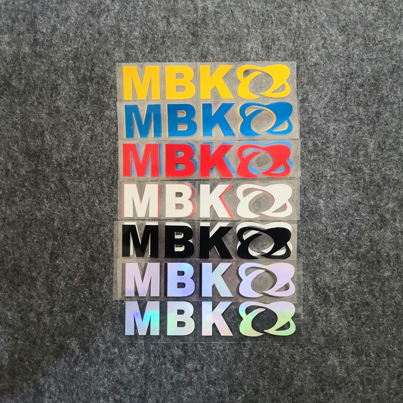 2pcs Motorcycle Refit Personalized Sticker Motorcycle MBK Logo  Decorative Colorful Laser Reflective Waterproof Decals for MBK