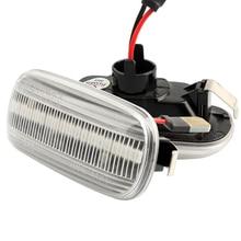 цена на 2Pcs Dynamic Side Marker Turn Signal Lights Turn Light Amber Led Blinker LED Light For Audi A3 S3 8P A8 D2 TT 8N Car Accessories