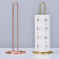 Nordic Stijl Ijzer Desktop Papierrol Rack Eenvoudige Rose Goud Restaurant Woonkamer Wc Rolhouder Opbergrek Home Decor