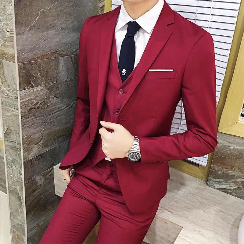 Костюм для мужчин комплект из трех предметов деловая официальная одежда деловой