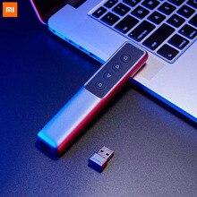 Xiaomi MIjia Guildford 2.4G Wirless strona Turner Pen prezenter laserowy Flip Pen PPT Laser strona Clicker z odbiornikiem USB
