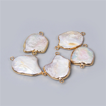 3pcs Natural Freshwater Pearl Pendants Charms Connector Pendants for Jewelry Making DIY Accessories Necklaces Bracelet earring