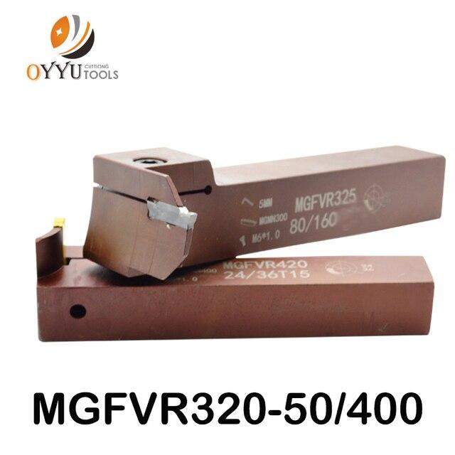 7 şekilli yüz oluk kesici MGFVR 25MM MGFVR325 çift kafa işleme aralığı 30 ila 400 karbür insert MGMN300 MRMN kanal açma aracı
