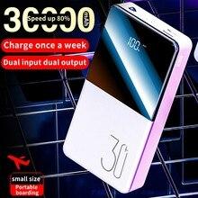 30000 мА/ч, 20000 мА/ч, Мощность банк Портативный внешний Батарея благодаря зарядному устройству QC быстрое зарядное устройство с двумя портами USB Портативный Мощность банк Зарядное устройство для телефона