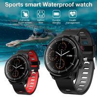 SENBONO-reloj inteligente S10 para hombre y mujer, deportivo, resistente al agua, control del ritmo cardíaco, pronóstico del tiempo, negro/rojo