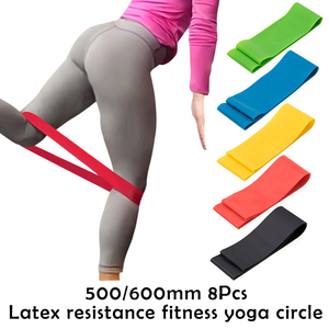 Gym Fitness Resistance Bands Yoga Stretch Pull Workout Training Equipment 0.35-1.1mm Pilates Elastic Bands Equipment