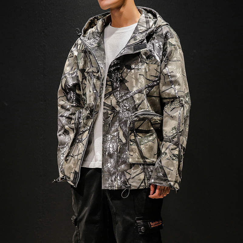 Camouflage Jacket Windbreaker Vintage Men Jacket 2020 Clothes Hip Hop Japanese Streetwear Hooded Jacket Harajuku Male Outerwear