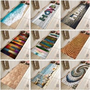 Bath Mat 40X120 CM Seascape Print Carpet Hallway Doormat Anti - Slip Carpet Absorb Water Kitchen Mat tapis salle de bain #R50