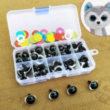 16mm Safety Plastic Colorful Doll Eyes For Toy Crochet Stuffed Animals Dolls Crafty Amigurumi Eyes For Toy Plush Accessories