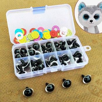 цена 16mm Safety Plastic Colorful Doll Eyes For Toy Crochet Stuffed Animals Dolls Crafty Amigurumi Eyes For Toy Plush Accessories онлайн в 2017 году