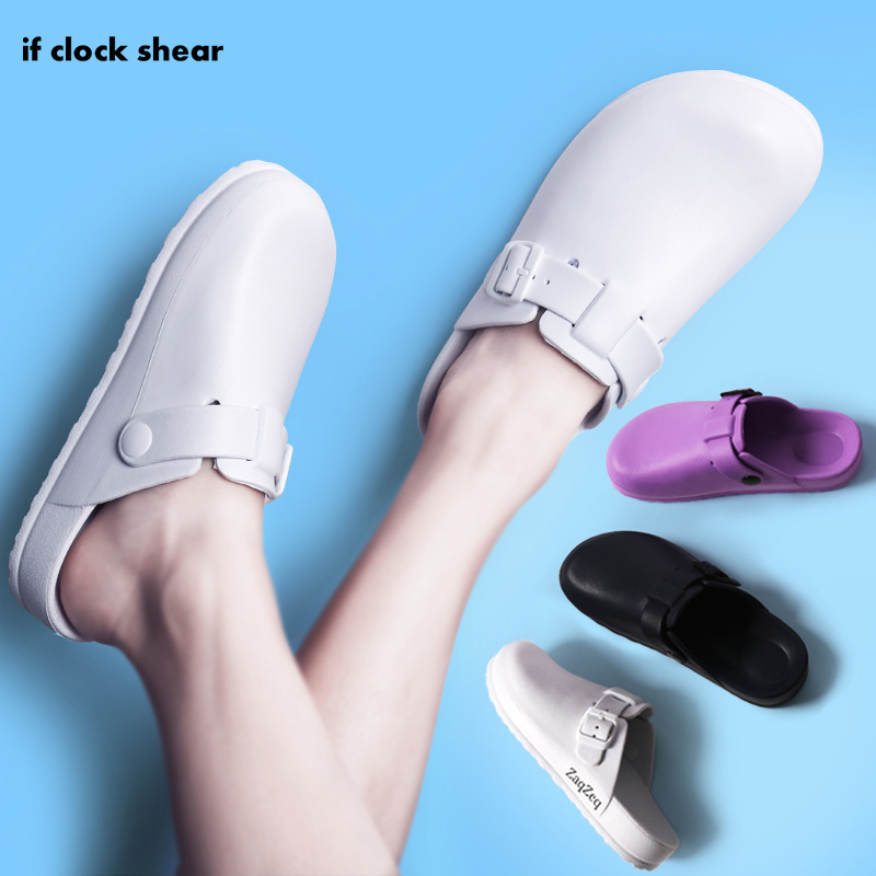 IF Operating room Slipper male female sandals slippers doctor surgical shoes nurse work shoes experimental non-slip shoes summer