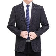 Suit Jacket Blazers Costume Americana Business Print Plaid Casual Fashion Luxury Autumn