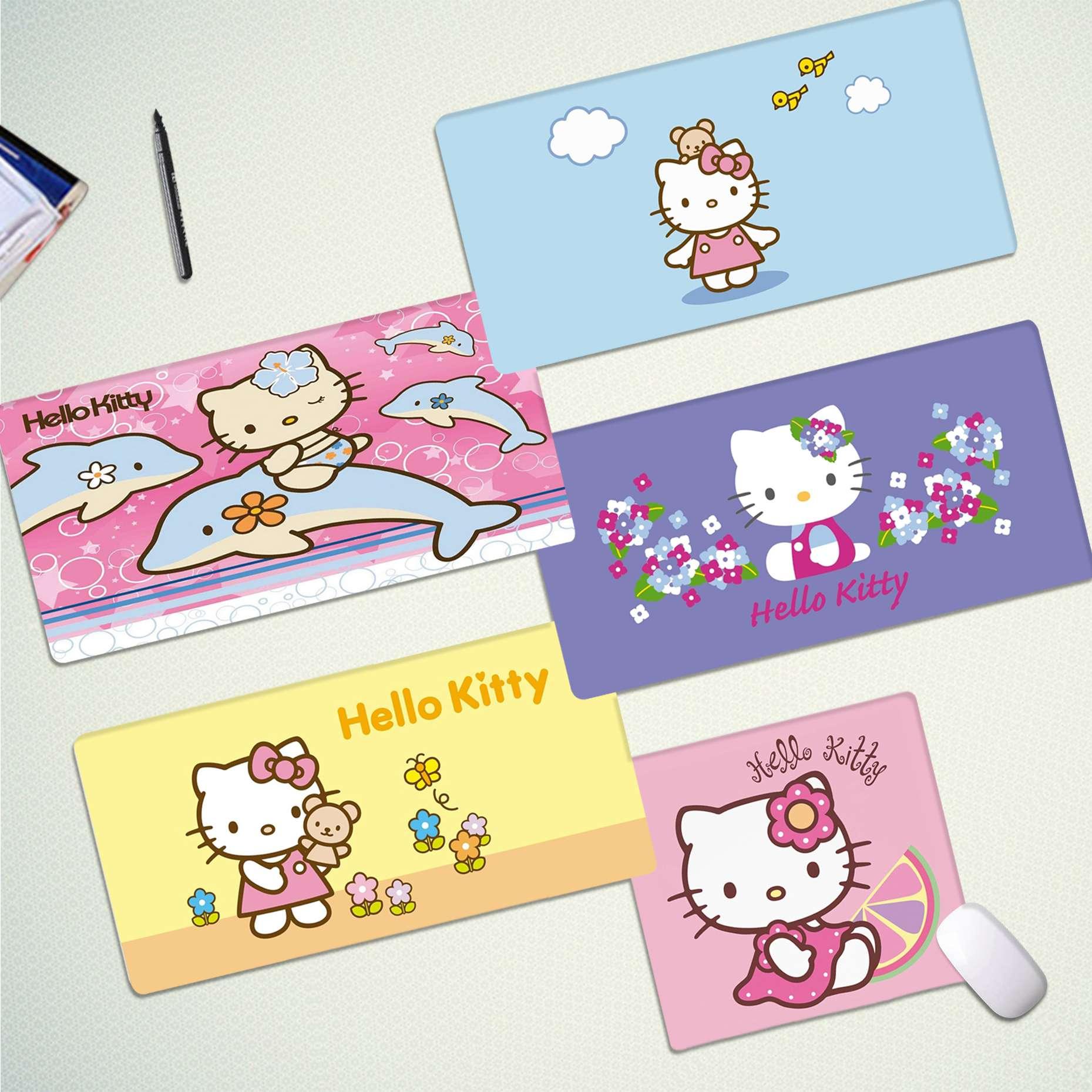 Maiya Boy Gift Pad Pink Hello Kitty Cat Laptop Computer Mousepad Free Shipping Large Mouse Pad Keyboards Mat
