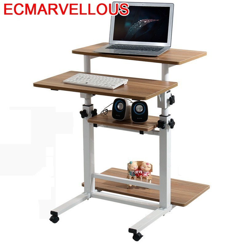Bureau Meuble Scrivania Tisch Tavolo Para Notebook Bed Mesa Escritorio Laptop Stand Adjustable Bedside Study Table Computer Desk