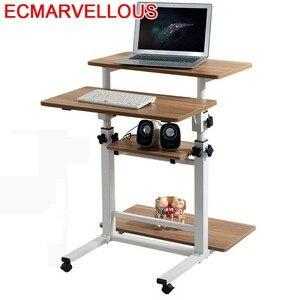 Image 1 - Bureau Meuble Scrivania Tisch Tavolo Para lit pour ordinateur portable Mesa Escritorio support dordinateur portable Table de chevet réglable Bureau dordinateur