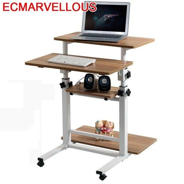 Bureau Meuble Scrivania Tisch Tavolo Para lit pour ordinateur portable Mesa Escritorio support dordinateur portable Table de chevet réglable Bureau dordinateur