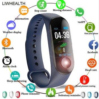 Cheap Smart Band Watch Fitness Bracelet Smartband Step HR Pulseira For IOS/Honor/Xiaomi PK Mi Band 3/4 Fit Bit 5 Not Xiomi