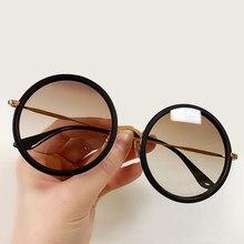 2020 Retro Luxury Brand Vintage Round Sunglasses Women Designer Sun Glasses High Quality Shades For Women With Box