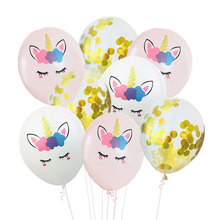 12inch Colorful Sequin Balloon Unicorn Latex Balloons Baby Birthday Party Decoration Happy Supplies
