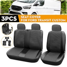 3pcs Universal Car Truck Seat Cushion Cover 1+2 Type Split Seat Cover Dustproof For Ford Transit Custom For Renault For Toyota