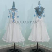 GOODANPAR ballroom dance competition dresses 2019Custom-made dress standard drag queen costumes  white