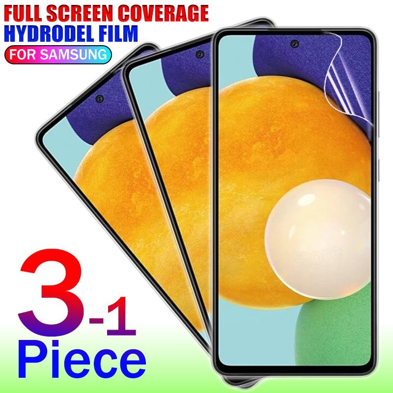 Защита экрана для Samsung Galaxy A52 A51 A71 A72 A50 M51 M31 M21 Гидрогелевая пленка для Samsung S21 Note 20 Ultra A80 не стекло