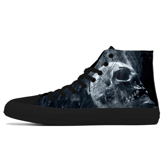 3D SKULL HIGH TOP SHOES (6 VARIAN)