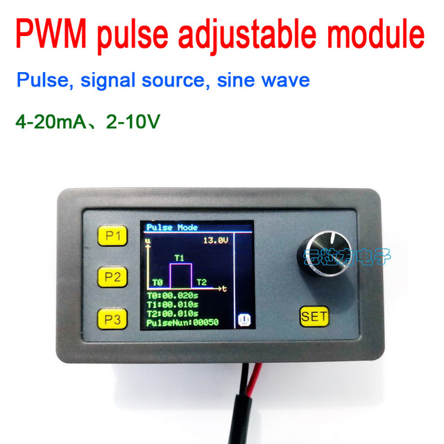 Digitale Display Pwm Pulse Verstelbare Module Signaal Bron Stroom 4 20mA, voltage 2 10V Signaal Generator Sinus 1 1000Hz