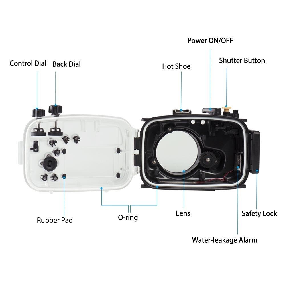Meikon 130ft 40m impermeável câmera subaquática habitação