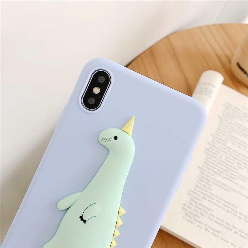 3d bonito dinossauro caso diy para xiaomi redmi nota 6 pro caso de telefone para redmi nota 5 pro 4x4 kawaii pintainho capa macia tpu casos