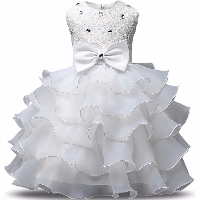 Girls Princess Flowers Ball Gown Princess Dress Kids Clothes Girls Cake Formal Dresses For Weddings Tutu Dress Party Evening 3