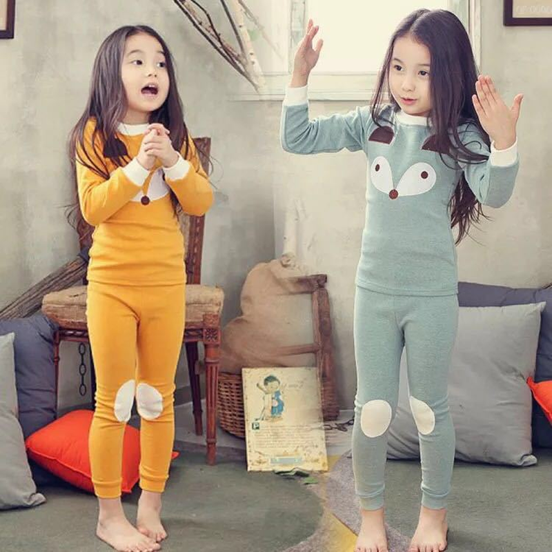 2018 Children Autumn Pajamas Clothing Set Boys & Girls Cartoon Sleepwear Suit Sets Christmas Pyjamas Kids Enfant Baby Clothes