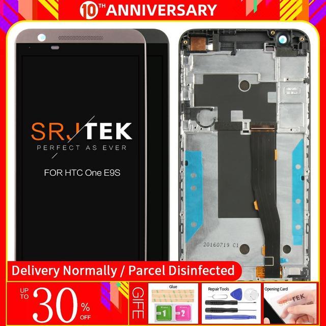 สำหรับ HTC One E9S E9ST E9SW สีดำหน้าจอสัมผัสแผง Digitizer Glass SENSOR + จอแสดงผล LCD Monitor โมดูล ASSEMBLY 100% ทดสอบ