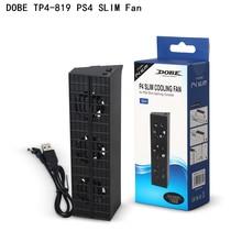 Подставка охлаждающая для Dobe PS4 Slim, охладитель для консоли Sony Playstation 4, PS4 Slim Pro с умным контролем температуры, 3 вентилятора
