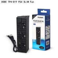 DobeためPS4 スリム冷却スタンドファンTP4 831 コンソールクーラースマート温度制御 3 ファンプレイステーション 4 PS4 スリムプロ