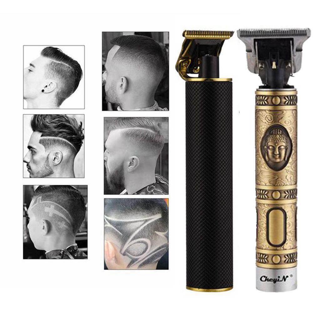 Professional Hair Clipper Men T-Outliner Beard Trimmer Titanium Ceramic Blade Electric Baldheaded Finishing Hair Cutting Machine