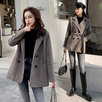 jxmyy-houndstooth-waisted-woolen-coat-women-2020-winter-fashion-new-product-korean-thick-popular-suit-woolen