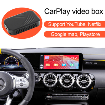 Car Apple CarPlay YouTube Netflix Video Bluetooth GPS Navigation AI Box,for Mercedes Benz A B Class GLA CLA W177 W247 C118 H247 image