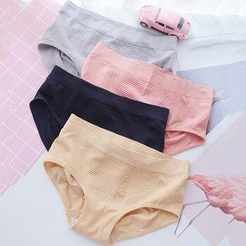 Frauen Unterhose Herbst Und Winter Waben Nahtlose Warme Gericht Große Größe Bauch Frauen Unterwäsche Nylon Solide Briefs #20