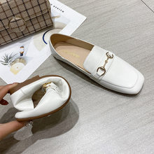 New Sexy Shallow Flats Casual Women Shoes Metal Loafers Oxford Slip on Moccasins Female Suede Leather Footwear Flat