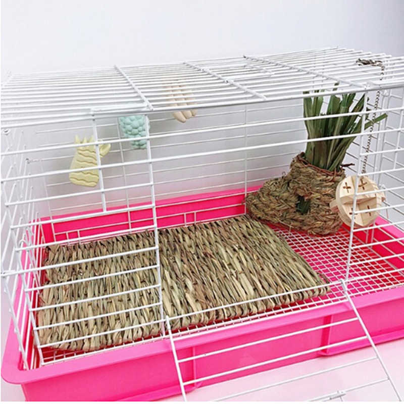 Pet Grass Mat Hamster Small Animal Bed Tissue Safe Pet For Rabbit Hedgehog Pet Supplies