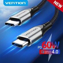 Prévention USB Type C vers USB C câble USB C PD 60W chargeur rapide cordon pour Samsung S20 Macbook iPad Charge rapide 4.0 USB C cordon de Charge