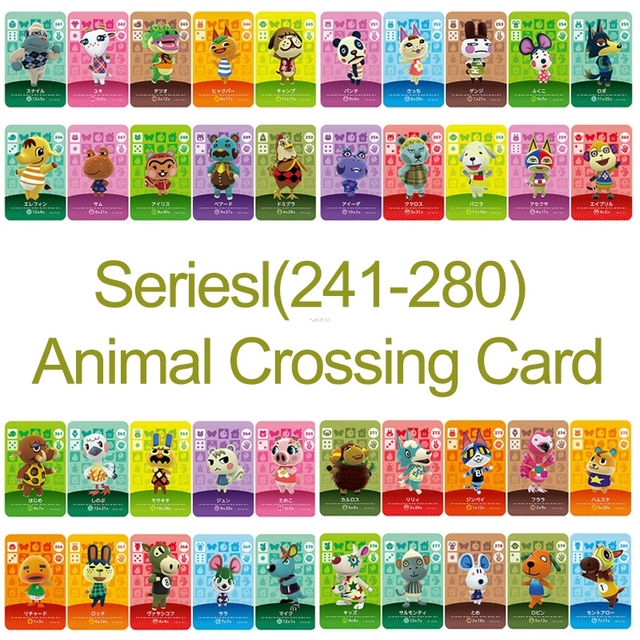 Card NS Game Series 3 (241 to 280) Animal Crossing Card Work for