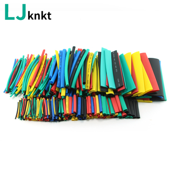 328pcs with box Heat shrink connectors tubing adhesive heat-shrinkable heatshrink tube braided sleeving cable heating elements - discount item  7% OFF Electrical Equipment & Supplies