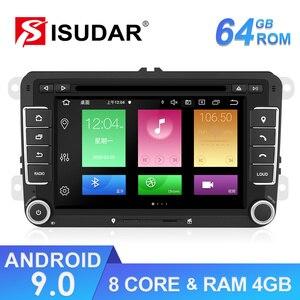 Isudar 2 Din Car Multimedia Android For VW/Volkswagen/POLO/Golf/Passat/Tiguan/Skoda/Octavia/Seat/Leon Auto Radio GPS DVD Player(China)