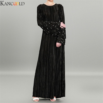 KANCOOLD mujeres étnicas túnicas islámicas musulmán Medio Oriente Maxi vestido vendaje Kaftan vestido hijab turco islámico moda