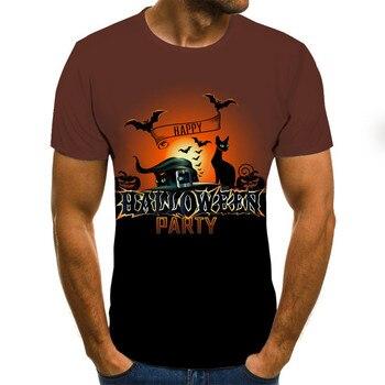 Camisetas a la moda para hombre, novedad de verano 2020, camiseta fresca de manga corta con Ghost Rider, camiseta informal con estampado de calavera Rock en 3D para hombre